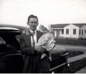 Roy Cunningham with daughter, Pat (circa 1950)